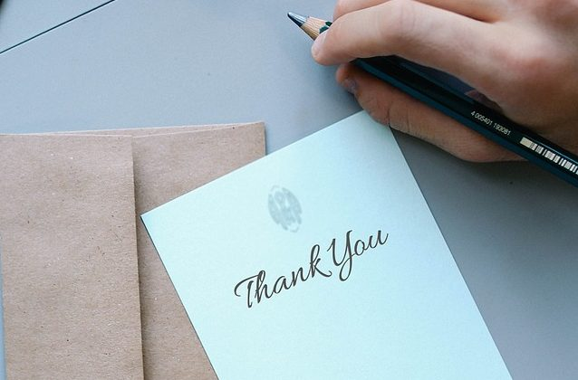 感謝の気持ちを伝えること