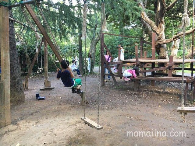 有野実苑の木のぼり公園