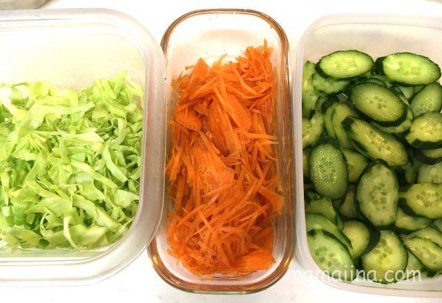 下ごしらえに、カット野菜