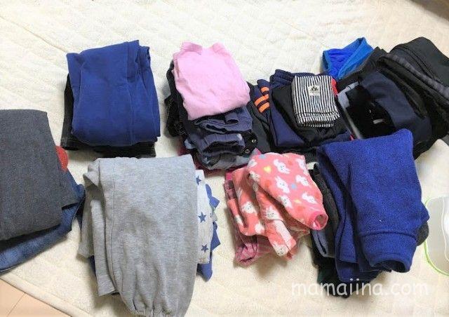 小2長男が畳んでくれた洗濯物