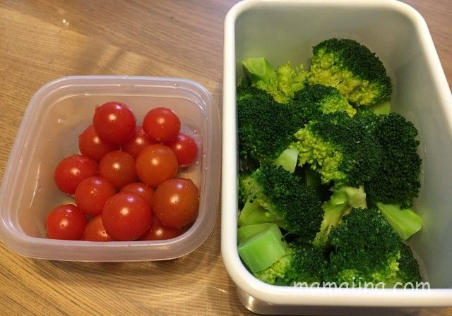 ミニトマトとブロッコリー