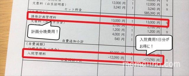 経産婦の計画分娩費用