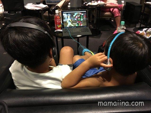 ANA国際線で子連れハワイへ 羽田空港ラウンジ