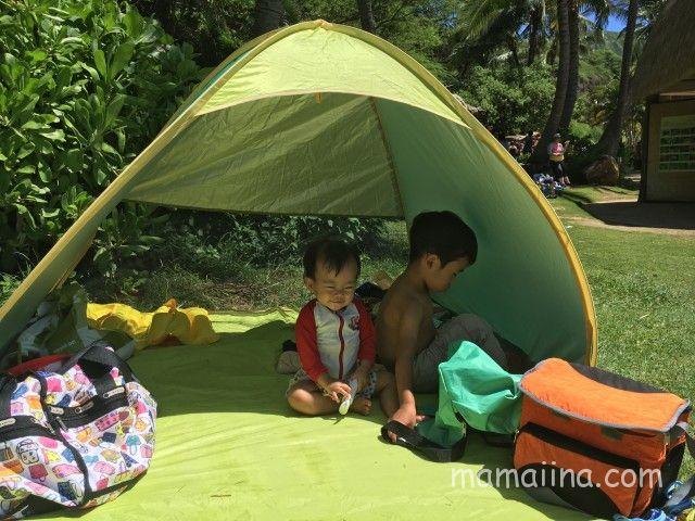 子連れハワイ 持ち物 テント