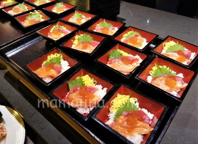 クラブメッドトマムの食事 ちらし寿司