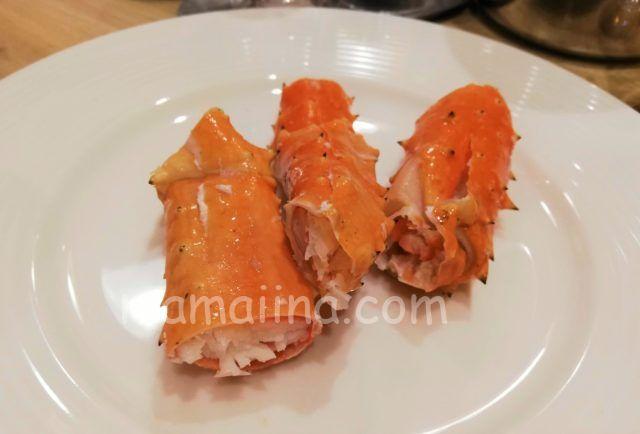 クラブメッドトマムの食事 たらば蟹
