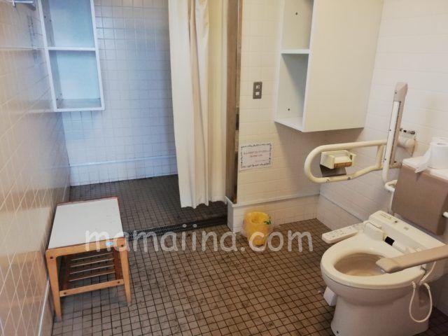 大洗サンビーチキャンプ場 バリアフリーのトイレ&コインシャワー