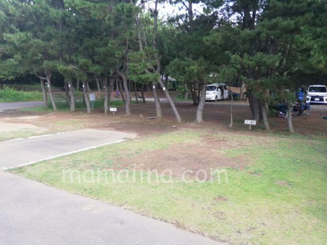 大洗サンビーチキャンプ場 ソロキャンパー用小さめサイト
