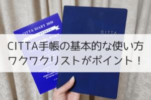 CITTA手帳使い方とワクワクの書き方