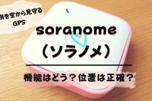 子供用GPS『soranome (ソラノメ)』の口コミレビュー